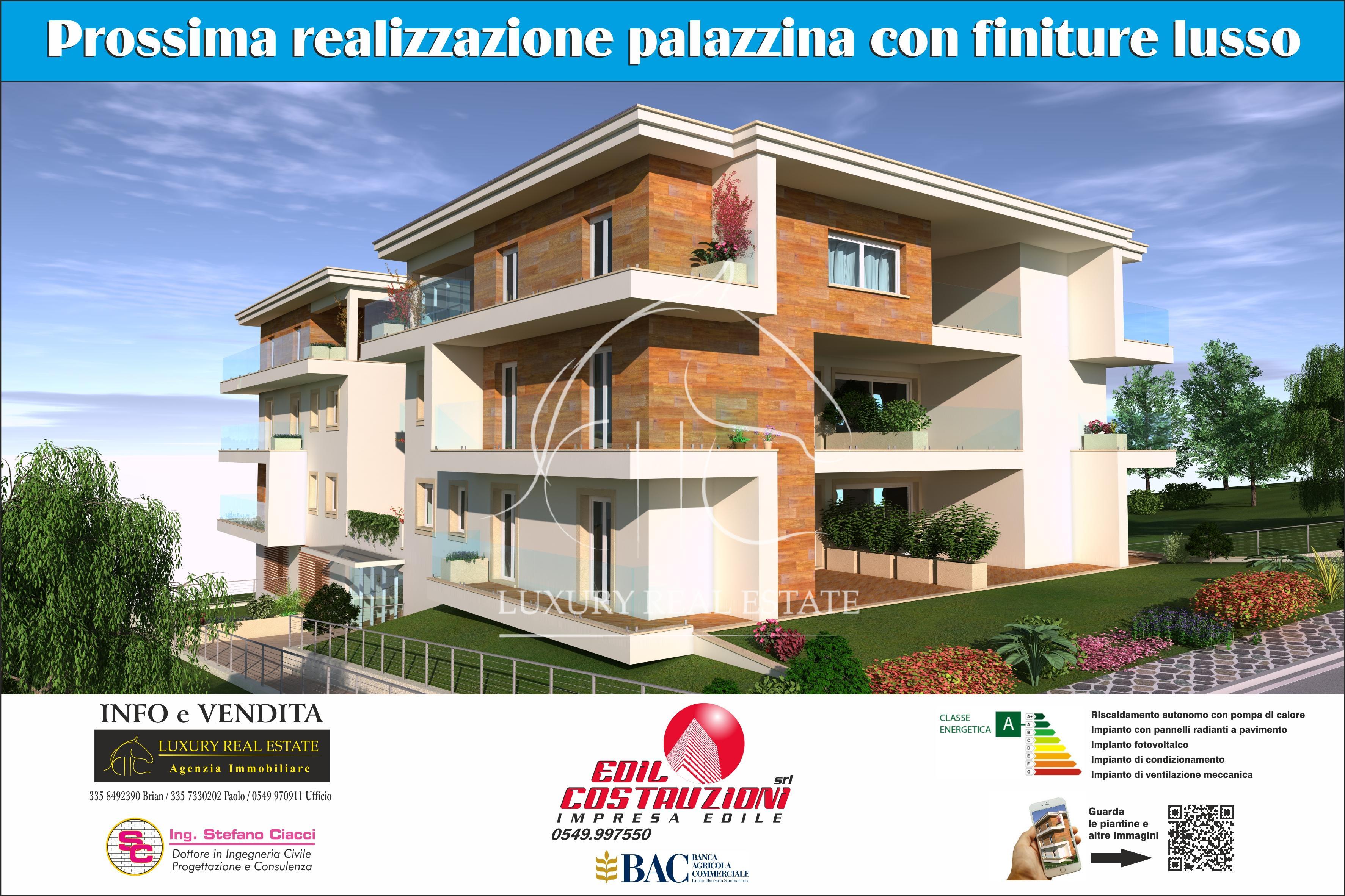 K.-Nr. 001 Wohnungen im Bau in der Gegend Falciano (RSM) Energieeffizienzklasse A